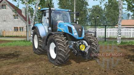 New Holland T7.240 espagnol ciel blꭒᶒ pour Farming Simulator 2015