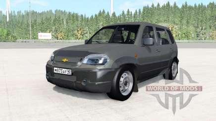Chevrolet Niva gris foncé pour BeamNG Drive