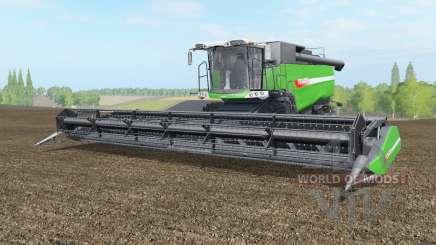 Fendt 9490 X with baler attacher pour Farming Simulator 2017