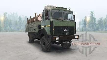 Le MAZ-5316 couleur vert foncé pour Spin Tires