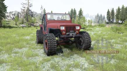 Jeep Wrangler (YJ) pale carmine pour MudRunner