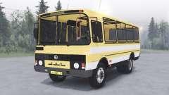 PAZ-3205 v1.2-Farbe gelb für Spin Tires