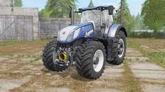 New Holland T7.290&T7.315 Bleu Poweɽ pour Farming Simulator 2017