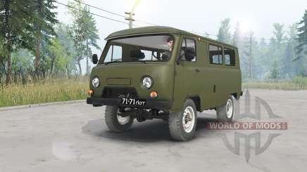 UAZ-452 dunkel Grau-grün für Spin Tires