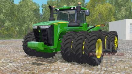 John Deere 9620R triple wheelȿ pour Farming Simulator 2015