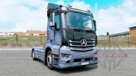 Mercedes-Benz Antos 1832 moonstone blue für Euro Truck Simulator 2