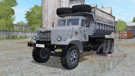KrAZ-256 gris bleu pour Farming Simulator 2017