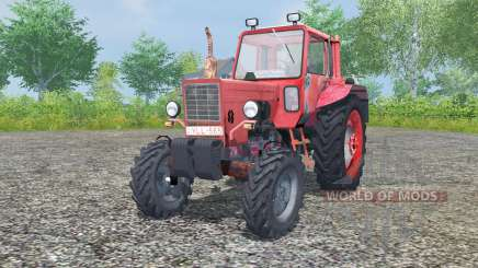 MTZ-80 Belarus ist mäßig Farbe rot für Farming Simulator 2013