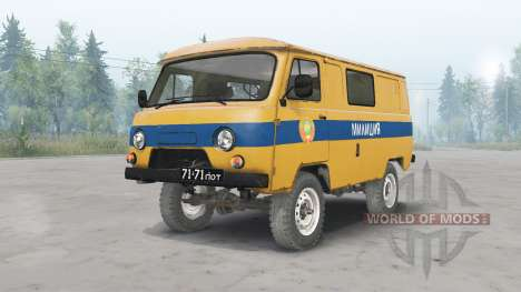 UAZ-3962 URSS Police pour Spin Tires