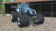 New Holland T8.320 added dual wheels für Farming Simulator 2015