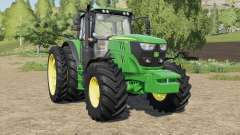 John Deere 6R-series more tires pour Farming Simulator 2017