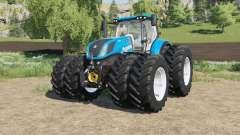 New Holland T7-series Michelin double wheels pour Farming Simulator 2017