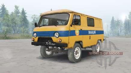 UAZ-3962 UdSSR Polizei für Spin Tires