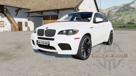 BMW X6 M (E71) 2009 anti flash white pour Farming Simulator 2017
