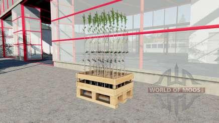 Le plateau de soixante jeunes plants d'arbres pour Farming Simulator 2017