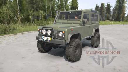 Land Rover Defender 90 Station Wagon Army pour MudRunner