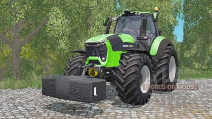 Deutz-Fahr 9340 TTV Agrotron with weighƫ für Farming Simulator 2015