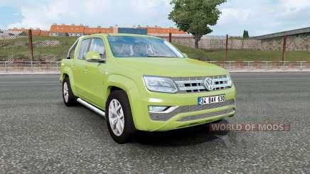 Volkswagen Amarok Double Cab 2016 olive green pour Euro Truck Simulator 2