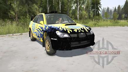 Subaru Impreza WRX STi Spec C N12 Rallycar 2007 pour MudRunner