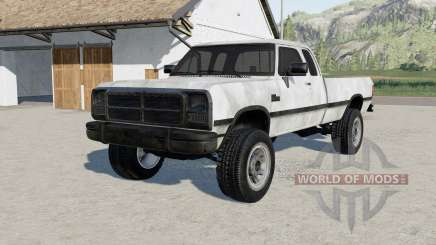 Dodge Power Ram 250 Club Cab 1993 pour Farming Simulator 2017