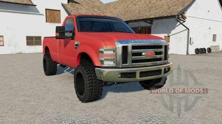 Ford F-350 persian red für Farming Simulator 2017