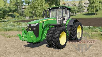 John Deere tractors with added Row Crop wheels pour Farming Simulator 2017