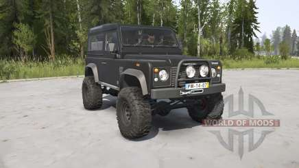 Land Rover Defender 90 Station Wagon black pour MudRunner