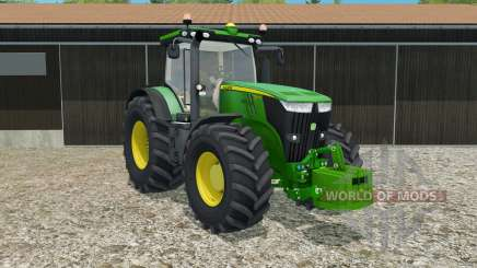 John Deere 7270R with weight pour Farming Simulator 2015