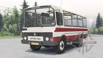 PAZ-3205 v1.2 weiß-rote Farbe für Spin Tires