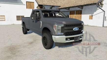 Ford F-250 Super Duty XLT FX4 Super Caɓ 2017 für Farming Simulator 2017