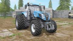 New Holland T8-series with dual wheel pour Farming Simulator 2017