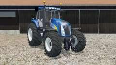 New Holland T8020 science blue pour Farming Simulator 2015