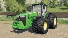 John Deere 8R-series wide tire options pour Farming Simulator 2017