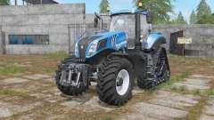 New Holland T8-series wheels options pour Farming Simulator 2017