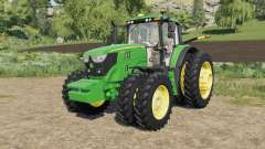 John Deere 6M-series 8 wheels configurations pour Farming Simulator 2017