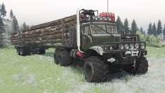 KrAZ-255 dark gris-vert pour Spin Tires