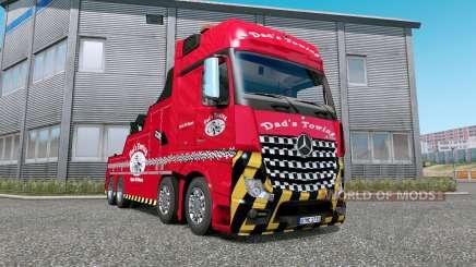 Mercedes-Benz Actros (MP4) Tow Truck v1.7 für Euro Truck Simulator 2