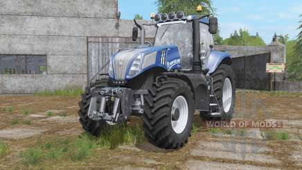 New Holland T8-series with additional light für Farming Simulator 2017