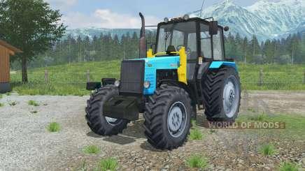 MTZ-1221 Belarus Traktor mit einem Lader für Farming Simulator 2013