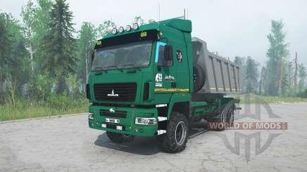 MAZ-6514H9 grüne Farbe für MudRunner
