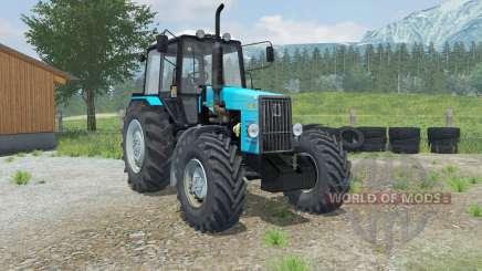 MTZ-Belarus 1221В mit einem loader Laumetris für Farming Simulator 2013
