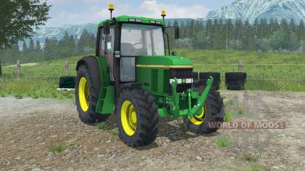 John Deere 6100 with weight pour Farming Simulator 2013
