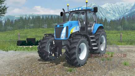 New Holland T8020 realistic exhaust pour Farming Simulator 2013