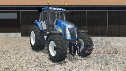 New Holland T8020 science blue pour Farming Simulator 2015