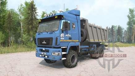 MAZ-6514H9 Farbe blau für MudRunner