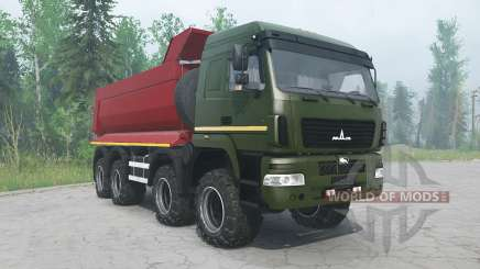 MAZ-6516В9 couleur verte pour MudRunner