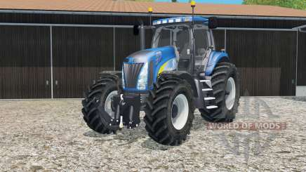New Holland T8020 tire marks pour Farming Simulator 2015