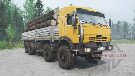 KamAZ-6350-Farbe gelb für MudRunner