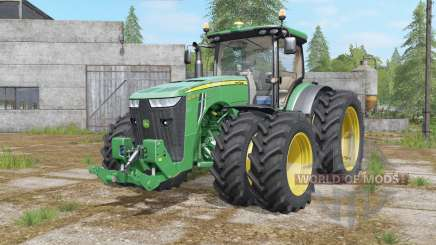 John Deere 8320R&8370R double wheels pour Farming Simulator 2017