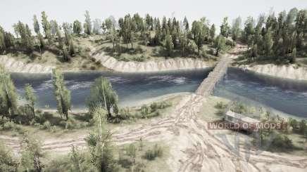 Au-delà de la forêt de la rivière pour MudRunner